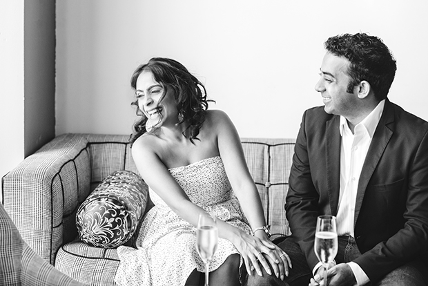 Engagement Shoot Image at Cha Champagne Bar in Houston