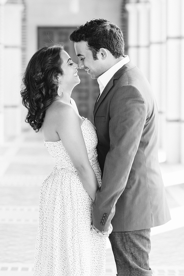 black and white image of South Asian couple