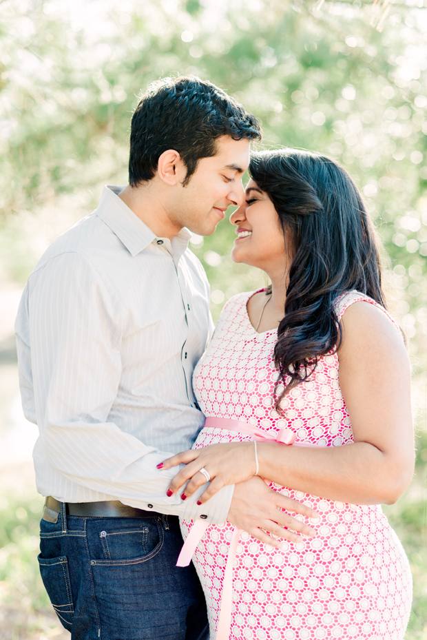 expecting couple's maternity photoshoot at Herman Park in Houston