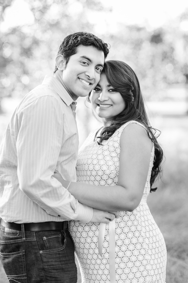 black and white couple's portrait