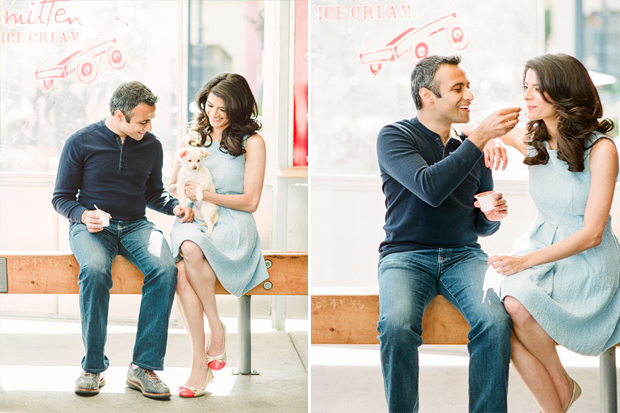 smitten ice cream san francisco engagement portraits