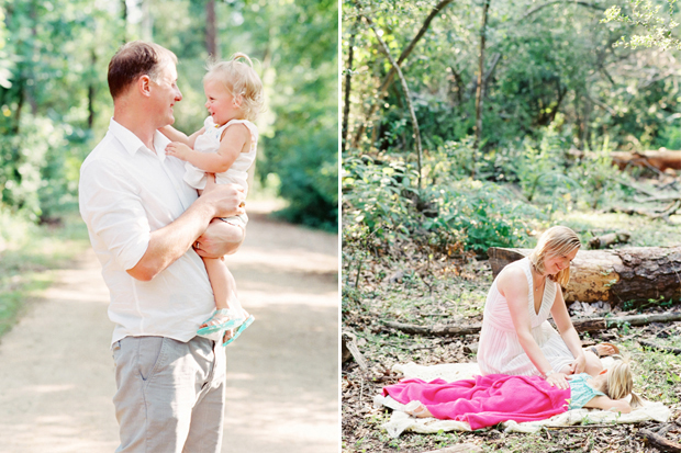 natural light family portraits on film