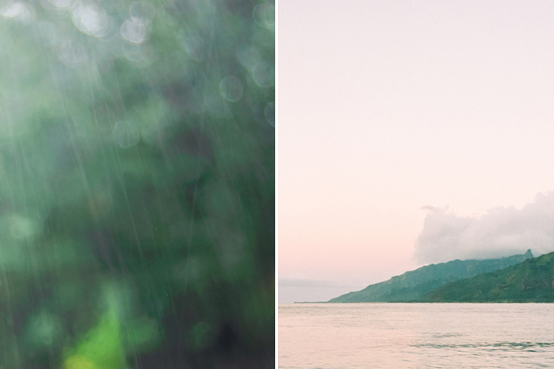 rainy dusk in moorea